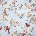 Premium Cotton Fabric-Blue Camila Birds