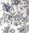 Sew Sweet Satin Fabric 44\u0027\u0027-Floral Print