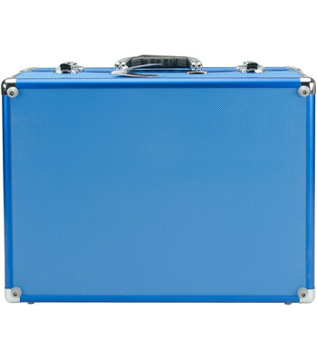 Copic Aluminum Case With Shoulder Strap-Blue