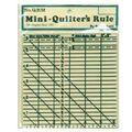 Mini Quilter\u0027s Rule-6\u0022 X 6\u0022 Black Grid