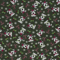 Christmas Cotton Fabric-I Woof You Holiday Green Glitter