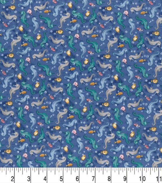 Price per 1//2 metre 511 Seahorse on blue 100/% Cotton Fabric