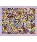 Novelty Cotton Fabric Panel 44\u0022-Pansies