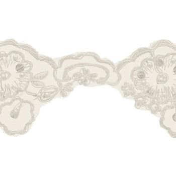 Wide Bridal Lace Beads-Ivory