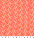 Quilter\u0027s Showcase Cotton Fabric 44\u0027\u0027-Daisy on Coral