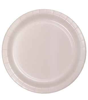 8ct Large Paper Plate-Silver