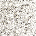 Glass Seed Beads-Silver Plated Transparent, 10/0, 20 grams