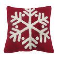Handmade Holiday Christmas 12\u0027\u0027x12\u0027\u0027 Knit Pillow-Snowflake