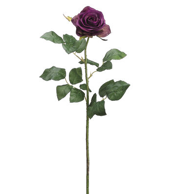 "Bloom Room 27.5"" Confetti Rose Stem-Two Tone Eggplant"