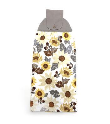 Simply Autumn 16''x17'' Granny Towel-Sunflower & Acorn