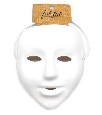"""Matte White PVC Mask, 6"""" size"""
