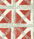 Waverly Upholstery Fabric 13x13\u0022 Swatch-Squared Away Coral