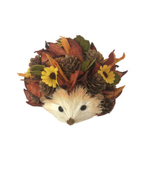 Simply Autumn Small Woodchip Hedgehog with Sunflowers