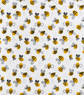 Snuggle Flannel Fabric-Happy Bee
