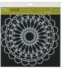 The Crafter\u0027s Workshop Rebekah Meier 12\u0027\u0027x12\u0027\u0027 Stencil-Scalloped Mandala