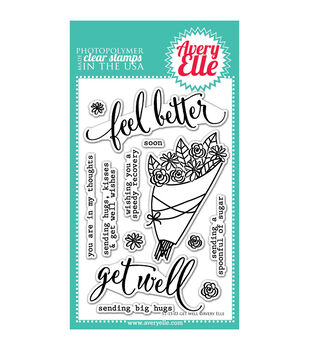 Avery Elle Get Well Clear Stamp Set 4''x6''