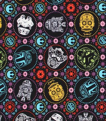 "Star Wars Cotton Fabric 44""-Sugar Skulls"