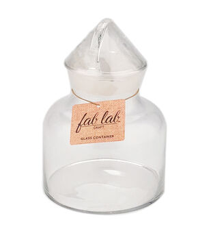Fab Lab Craft 5-litre Glass Container with Handle Lid