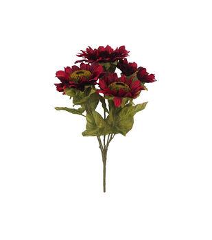 Blooming Autumn Sunflower Bush-Red