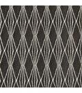 Robert Allen @ Home Lightweight Decor Fabric 55\u0022-Handcut Shapes /  Charcoal