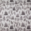 Super Snuggle Flannel Fabric-Gray On Gray Trees