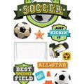 Paper House 4.5\u0027\u0027x8.5\u0027\u0027 3D Stickers-Soccer Champ