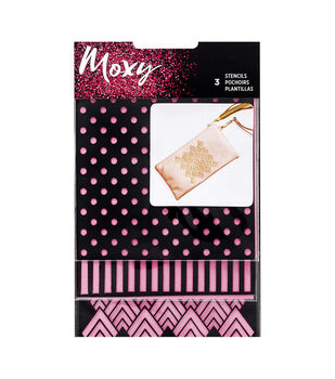 Moxy Glitter Stencils 3/Pkg-Square