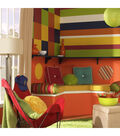 Wall Pops Totally Orange Stripe Decals, 32 Feet