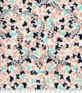 Quilter\u0027s Showcase Cotton Fabric -Peach Nectar Yucca Butterflies