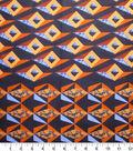 Global Cotton Shirting Fabric-Black & Orange Cubes