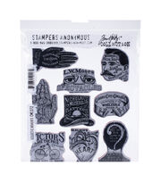 Tim Holtz Cling Stamps 7''X8.5''-Eclectic Adverts, , hi-res