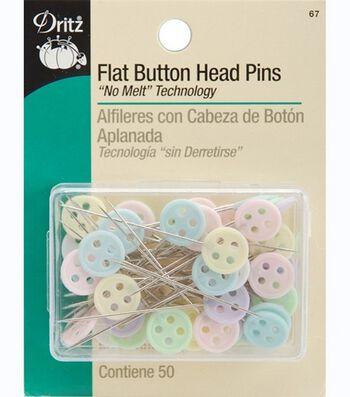 Dritz Flat Button Head Pins 50pcs