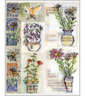 Penny Black Sticker Sheet 7\u0022X9\u0022-Painted Vase