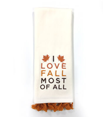 Simply Autumn 16''x28'' Towel-I Love Fall Most of All on Ivory