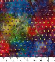 "Legacy Studio Batik Cotton Fabric 44""-Dot Rainbow, , hi-res"