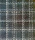 Anti-Pill Plush Fleece Fabric-Black & White Plaid