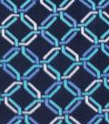 Blizzard Fleece Fabric 59\u0022-Ultramarine Chain Link