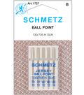Schmetz Ball Point Machine Needle 5/Pk-Sizes 10/70,12/80,14/90