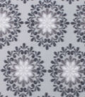Blizzard Fleece Fabric 59\u0022-Multi Gray Medallions