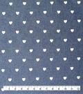 Bottomweight Denim 6oz Fabric -White Painted Heart