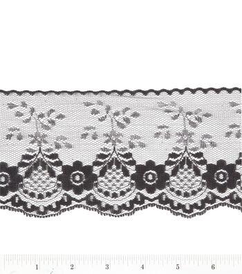 3.5 In Black Fancy Lace