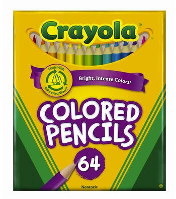 Crayola 64 ct. Short Colored Pencils