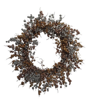 Blooming Holiday Christmas Mixed Metallic Berry Wreath