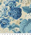 Waverly Sun N Shade Fabric 9\u0022x9\u0022 Swatch-Garden Glory Porcelain
