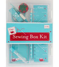 Dritz Sewing Box Kit-Blue & Red
