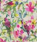 Novelty Cotton Fabric 43\u0027\u0027-Watercolor Parrots