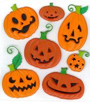 Jolee's Boutique Dimensional Stickers-Funny Pumpkins, , hi-res