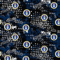 Air Force Cotton Fabric-Abstract Geo Logo