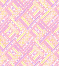 Snuggle Flannel Fabric 42\u0022-Ikat Diamond Pastel