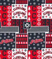 Cleveland Indians Cotton Fabric -Winter, , hi-res